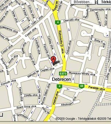 térkép debrecen belváros Elérhetőség térkép debrecen belváros